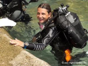 Simona diving Torre di Calafuria